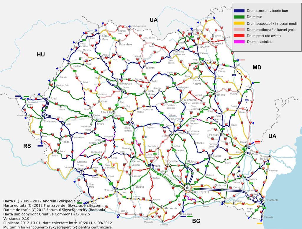 conditiile drumurilor